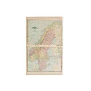 Cram's 1907 Map of Sweden