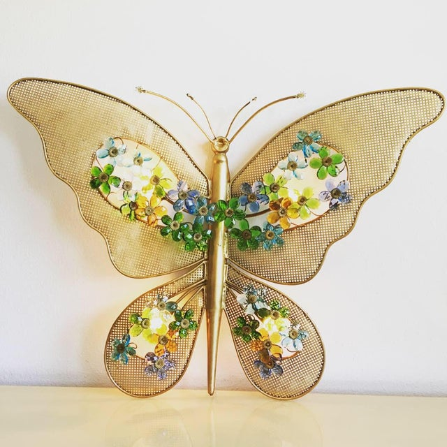 1950s Italian Butterfly Wall Light For Sale - Image 4 of 12