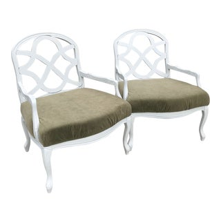 20th Century Contemporary Livingroom Accent Chairs - a Pair For Sale
