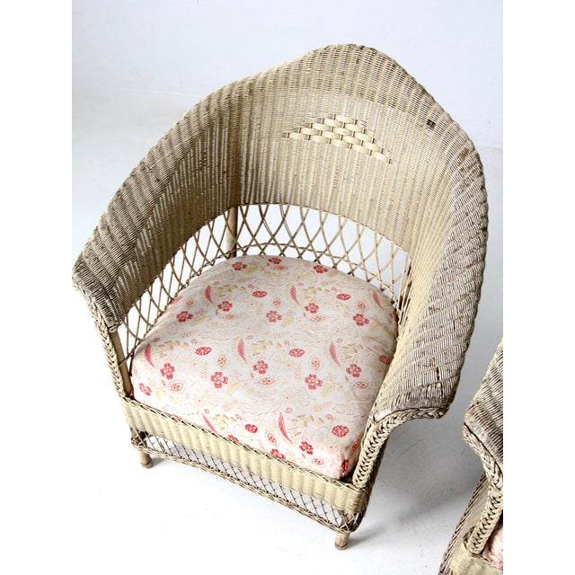 Wicker Antique Wicker Chair and Rocker For Sale - Image 7 of 11
