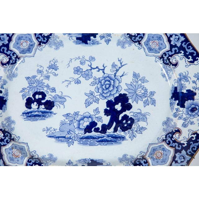 Asian Chinoiserie Ironstone Platter, Ridgway & Morley, England, Circa 1845 For Sale - Image 3 of 8