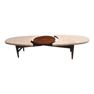 Harvey Probber Terrazzo and Walnut Coffee Table
