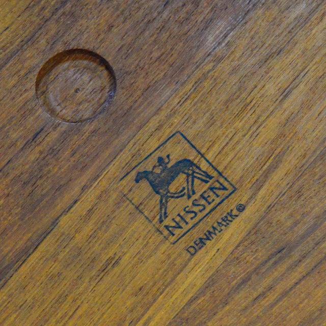 Brown Oversize Staved Teak Bowl & Servers by Richard Nissen For Sale - Image 8 of 12