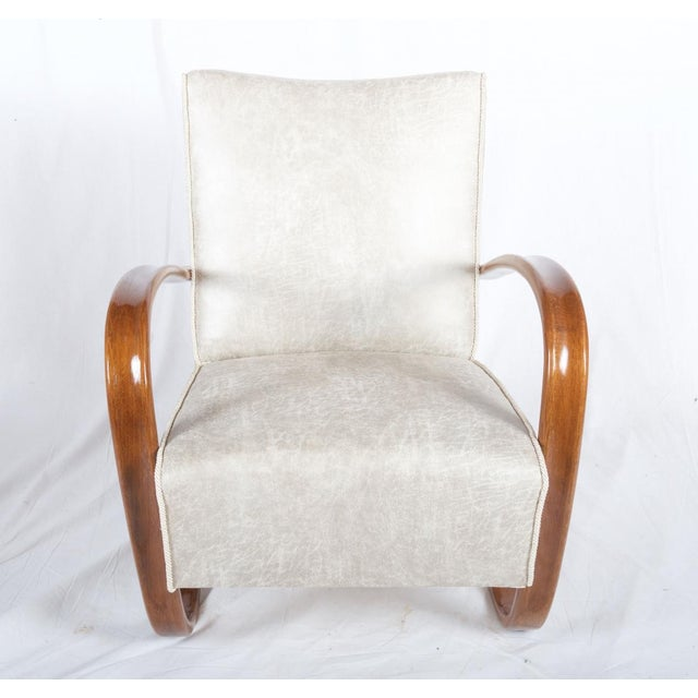 Brown H269 Lounge Chair by Jindrich Halabala for Thonet, 1930s - A Pair For Sale - Image 8 of 11