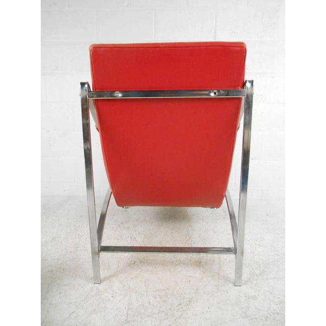 Vintage Mid-Century Tufted Armchair and Ottoman - Image 7 of 7