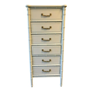 Henry Link Bali Lingerie Chest Faux Bamboo Chest of Drawers For Sale