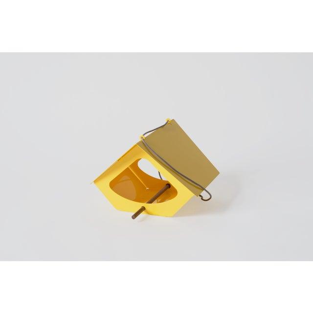 Metal Beekman Bird Feeder in Yellow For Sale - Image 7 of 9
