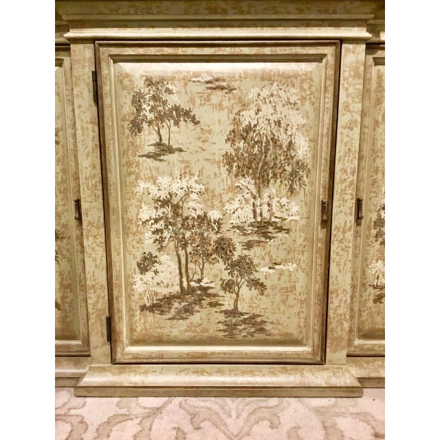 2010s Drexel Heritage Chinoiserie Sage Flanders Console Table/Sideboard For Sale - Image 5 of 8