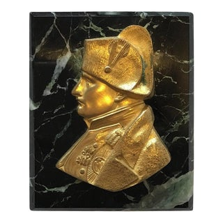 1880s French Gilt Bronze Napoleon Paperweight For Sale