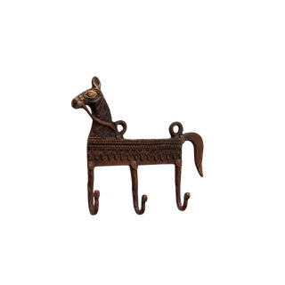 Bohemian Red Brass Horse Wall Hooks For Sale