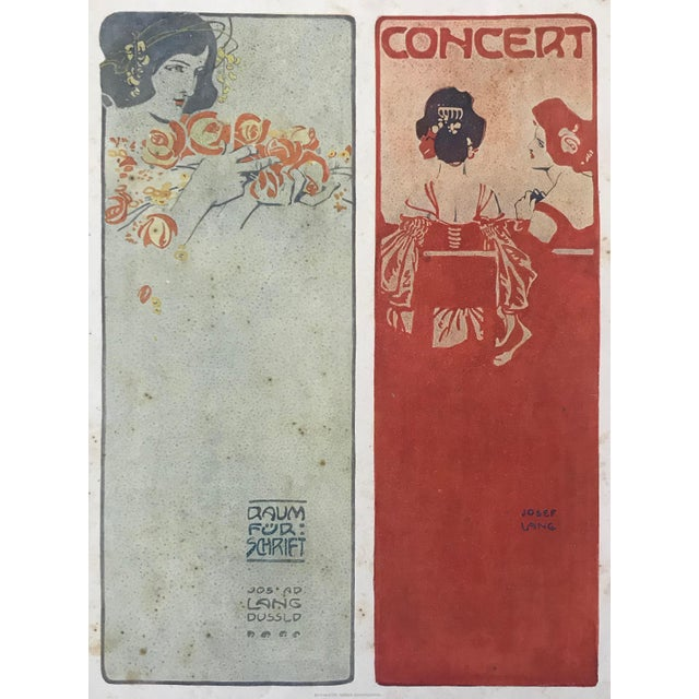Paper 1906 Original German Art Nouveau Poster, Decorator Print, #18, Art Deco Fashion For Sale - Image 7 of 8