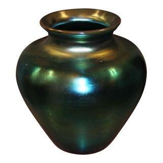 Steuben Blue Aurene Vase, 1930s For Sale