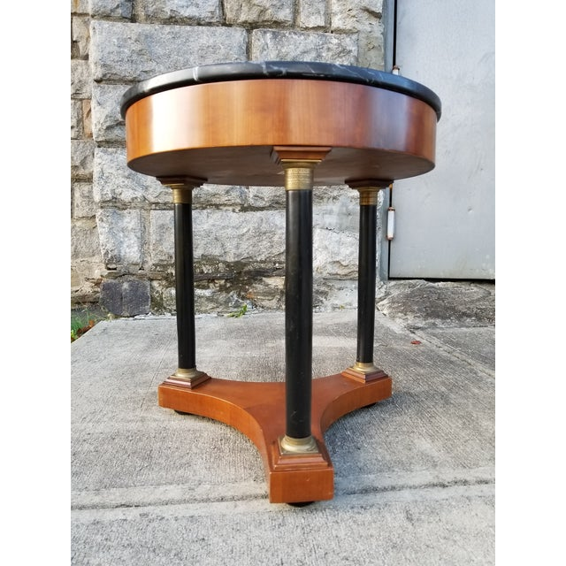 Italian Empire Style Marble Top Side Tables - A Pair For Sale - Image 4 of 11