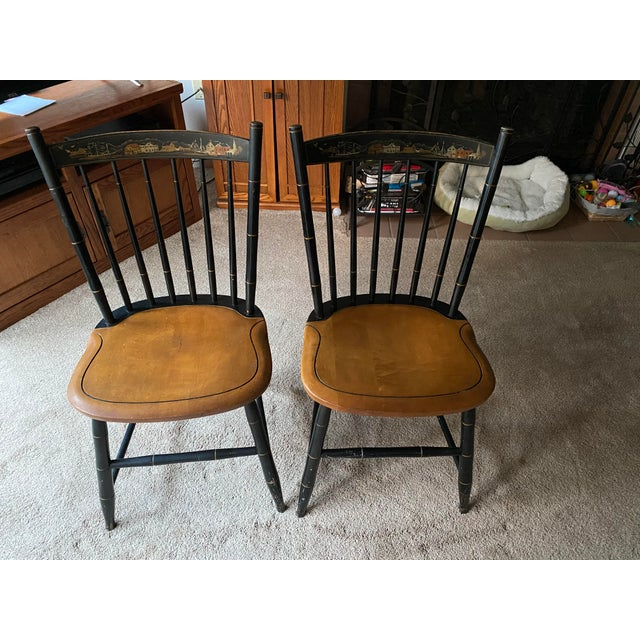 Stencil Hitchcock Chairs- A Pair For Sale - Image 9 of 9