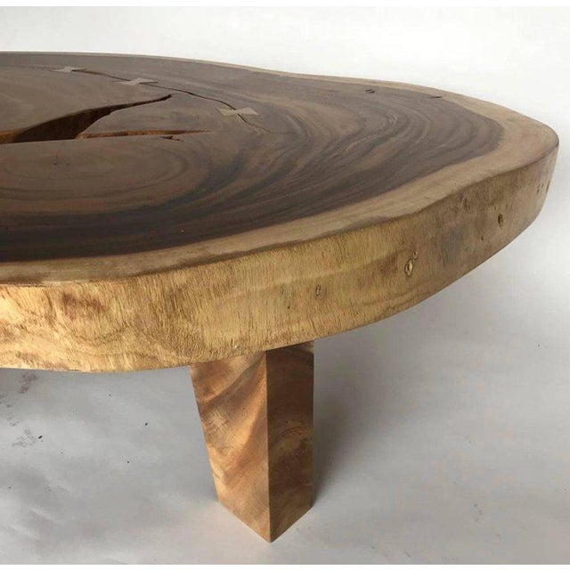 Free-Form Wood Coffee Table For Sale - Image 9 of 10