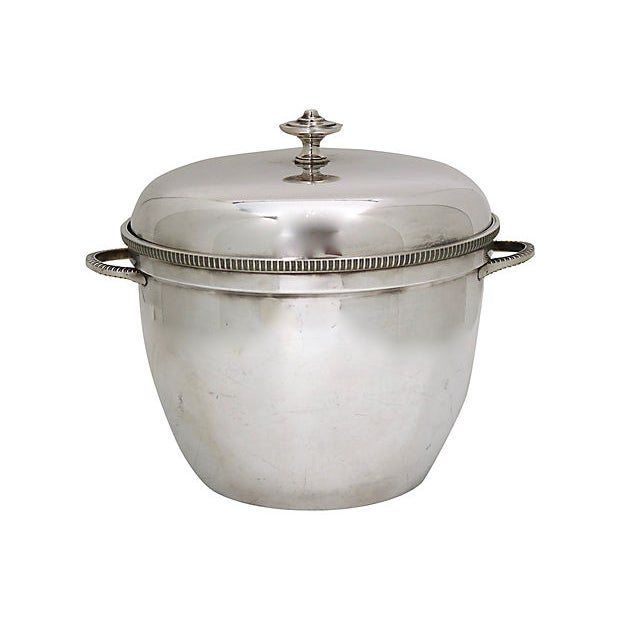 1950s English Silver-Plate Ice Bucket For Sale - Image 4 of 4