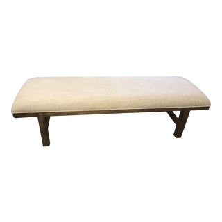 Thomasville Furniture Ed Ellen DeGeneres Parish Oak Bed Bench For Sale