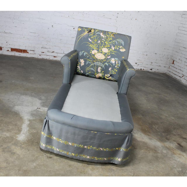 Vintage 1940's Newly Upholstered Double Armed Chaise Lounge - Image 10 of 11