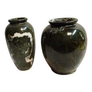 Mid-Century Marble Urns - A Pair For Sale