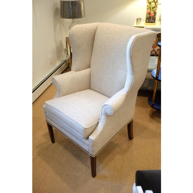 Hollywood Regency Hollywood Regency Century Wingback Chair For Sale - Image 3 of 11
