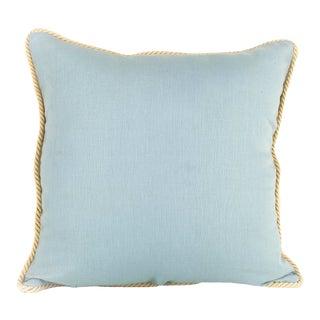 Sea Foam Solid Linen Pillow For Sale