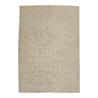 Neutral Turkish Rug, 6'7'' X 9'7'' For Sale