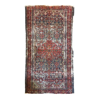 Distressed Persian Flat Weave Rug For Sale
