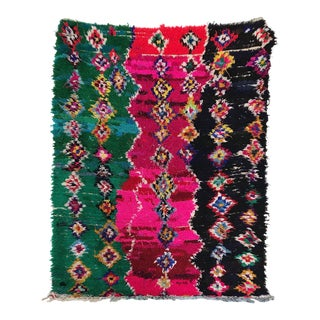 Moroccan Boucherouite Shag Rug - 4′4″ × 5′6″