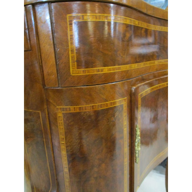 Egyptian Inlaid Wood Three Leg Flip-Up Mirror Top Vanity Dressing Table For Sale - Image 10 of 13