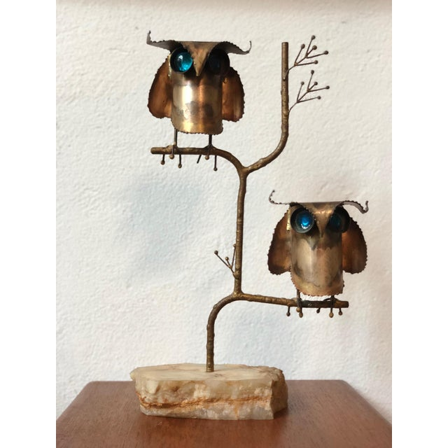 Mid 20th Century Brutalist Style Curtis Jere Owl Sculpture For Sale - Image 5 of 5