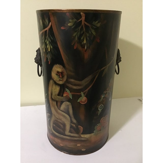Late 20th Century Mario Lopez Torres Style Monkey Lion Umbrella Stand For Sale - Image 5 of 13