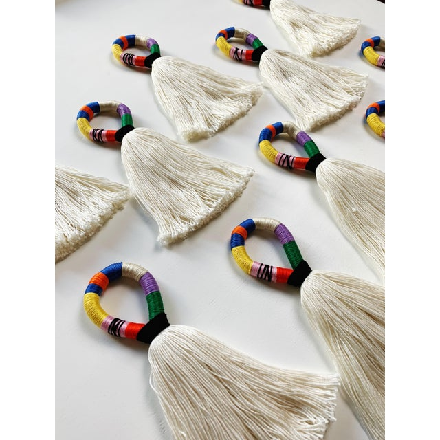 Boho Chic Boho Chic Multi-Color Tassel Door Hanger For Sale - Image 3 of 6
