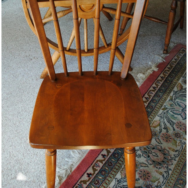 1950s 1950's Southwestern Baumritter Ethan Allan Wagon Wheel Dining Set - 5 Pieces For Sale - Image 5 of 13