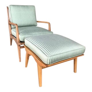 1960s Mid-Century Modern Carlo De Carli Lounge Chair and Ottoman - 2 Pieces For Sale
