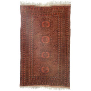 RugsinDallas Afghan Hand Knotted Wool Rug - 3′4″ × 5′4″ For Sale