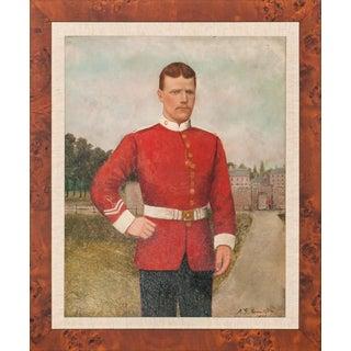 Vintage Royal Guardsman Oil Painting For Sale