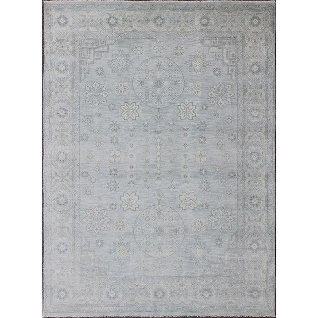 Indian Khotan Rug - 8′11″ × 11′11″ For Sale In Atlanta - Image 6 of 6