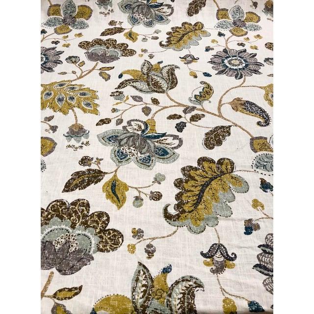 Robert Allen Spring MIX - Transitional Aloe Mustard and Celadon Botanical Printed Multipurpose Fabric - 27.5 Yards For Sale