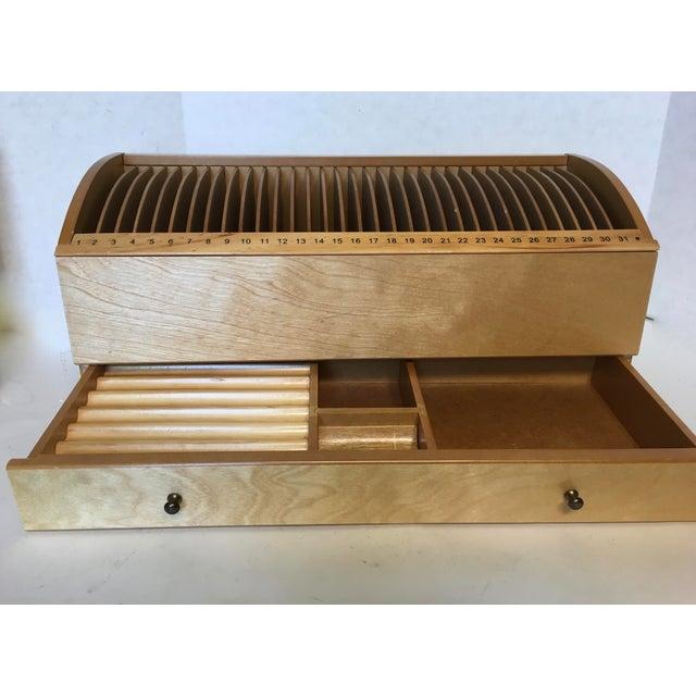 Vintage Desktop Numbered Wood Letter Organizer For Sale - Image 4 of 4