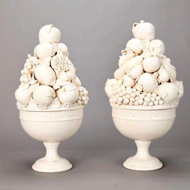 Tall Italian Porcelain Fruit Compotes - A Pair - Image 5 of 5