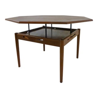 Danish Modern Solid Teak Table Dining Table, Denmark
