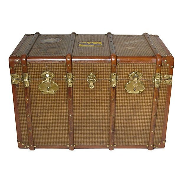 Early 20th Century French Steamer Trunk For Sale