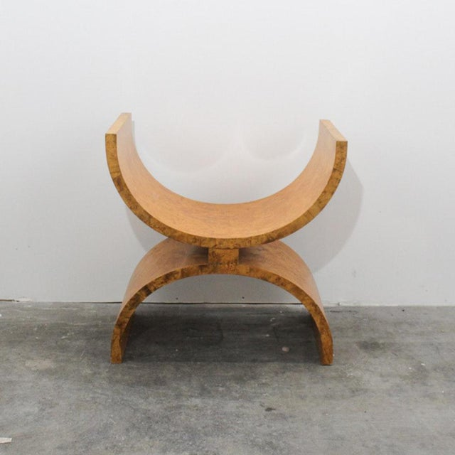 Wood Jay Spectre Modern Burlwood Bench For Sale - Image 7 of 7
