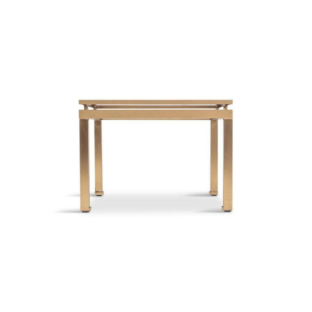 Belgo Chrome Guy Lefevre Side Tables in Brass and Smoked Glass for Maison Jansen For Sale - Image 4 of 10