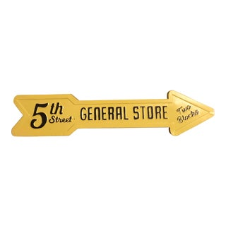 1990s Tin General Store Sign For Sale