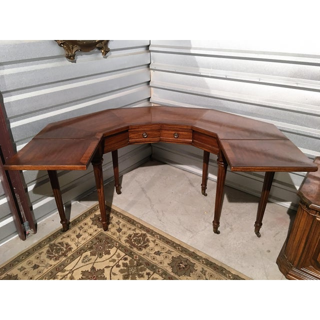 "Vintage Thomasville Drop-Leaf ""Horseshoe"" Desk - Image 8 of 10"