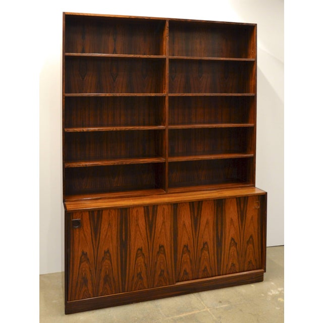 1960s Mid-Century Modern Danish Rosewood Bookcase For Sale - Image 5 of 10