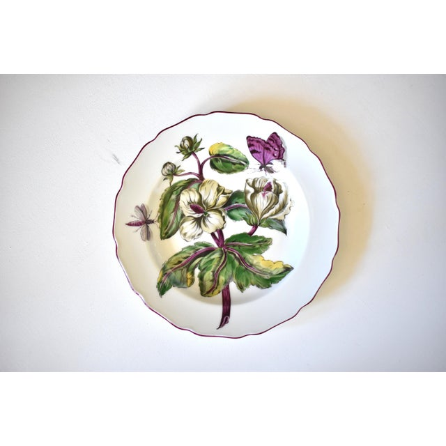 "Ceramic Mottahedeh ""Chelsea Flowers"" Botanical Prints Plates - Set of 17 For Sale - Image 7 of 13"