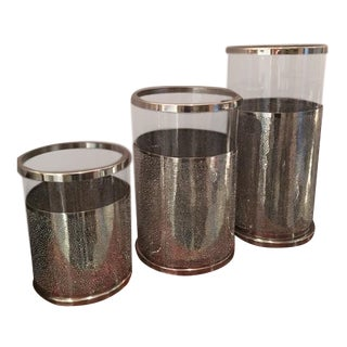 Glass Hurricane Vases - Set of 3
