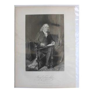 Ben Franklin, Print by Alonzo Chappel For Sale